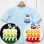 パンディエスタジャパン「熊猫サーフ」サガラ刺繍ポケットTee/529560