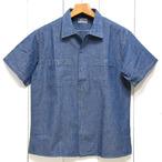 バズリクソンズ「BLUE CHAMBRAY」ブルーシャンブレー半袖ワークシャツ/br37911