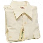 シュガーケーン「シャンブレー長袖ワークシャツ」ホワイト/sc27851