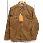 シュガーケーン「8.5oz ブラウンウォバッシュストライプ」長袖ワークシャツ/sc28516