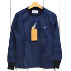 シュガーケーン「WABASH STRIPE」4本針長袖ヘンリーTee/sc68463