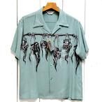 スターオブハリウッド「SHRUNKEN HEAD」レーヨンオープンシャツ/sh38624