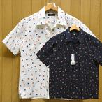 サンサーフ「HULA&PALMTREE」コットンハワイアン・レギュラーカラーシャツ/ss38406