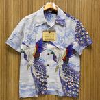 サンサーフ「PEACOOK」スペシャル半袖レーヨンアロハ・ブルー/ss38421-125