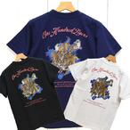 サンサーフ「ONE HUNDRED TIGERS」百虎・半袖ハワイアンTee/ss78352